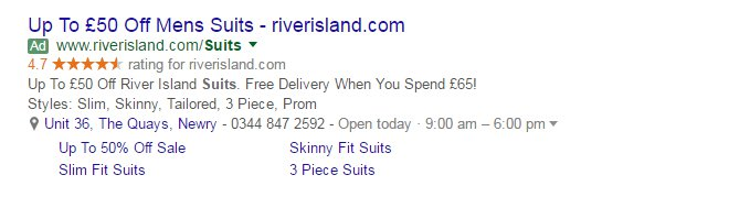 Call to Action Adwords
